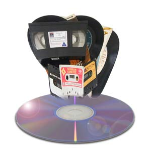 VHS video, vinyl and cassette tape to CD & MP3 transfer service